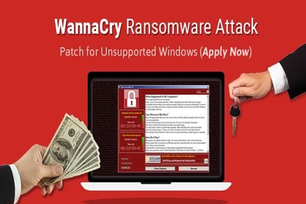 Ilustrasi virus Wannacry Ransomware menyerang perangkat lunak komputer di berbagai negara - Istimewa