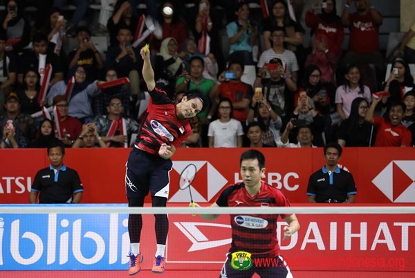 Ganda putra, Hendra Setiawan-Mohammad Ahsan - Badminton Indonesia