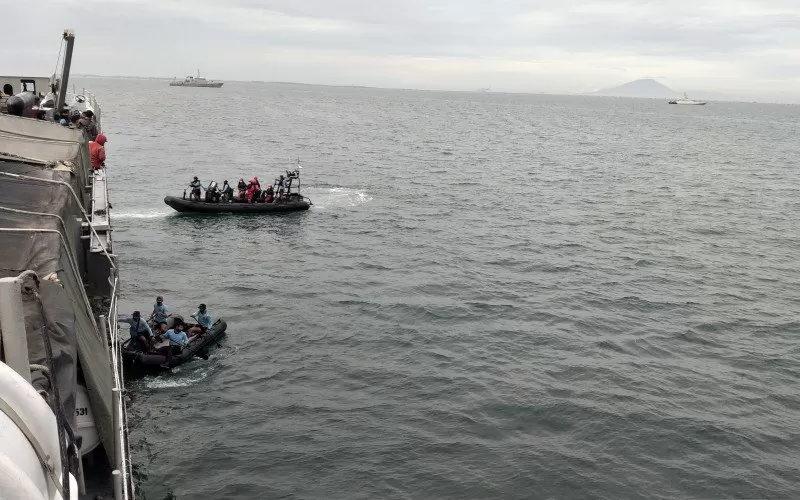 Proses pencarian pesawat Sriwijaya Air SJ 182 - Antara