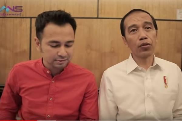 Raffi Ahmad berkesempatan mewawancari Presiden Joko Widodo (Jokowi) dalam video blog (vlog)-nya Rans Entertainment.  - Youtube
