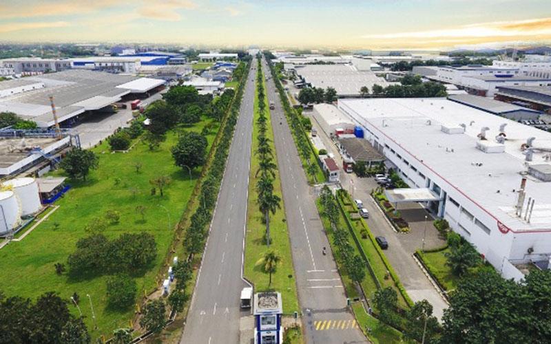Salah satu kawasan industri di Cikarang, Kabupaten Bekasi, Jawa Barat. - Istimewa