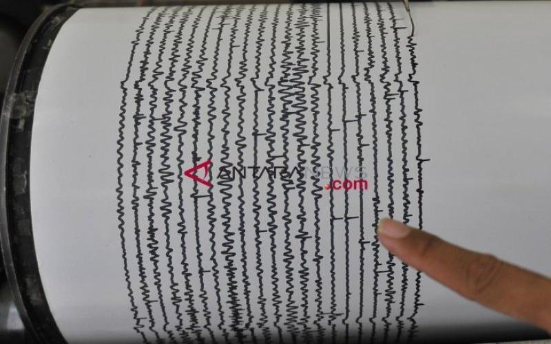 Ilustrasi seismograf. Alat ini merupakat perangkat yang mengukur dan mencatat gempa bumi. - Antara