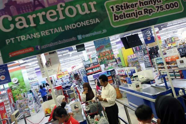 Gerai Carrefour Trans Retail Indonesia.  - Bisnis.com