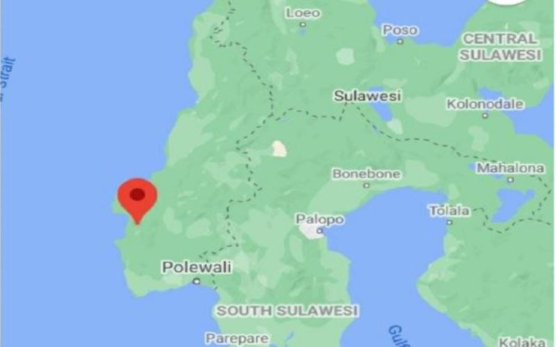 Gempa dengan magnitudo 6,2 yang terjadi di wilayah Kabupaten Majene, Provinsi Sulawesi Barat, pada Jumat (15/1/2020) pukul 01.28 WIB. - esdm.go.id