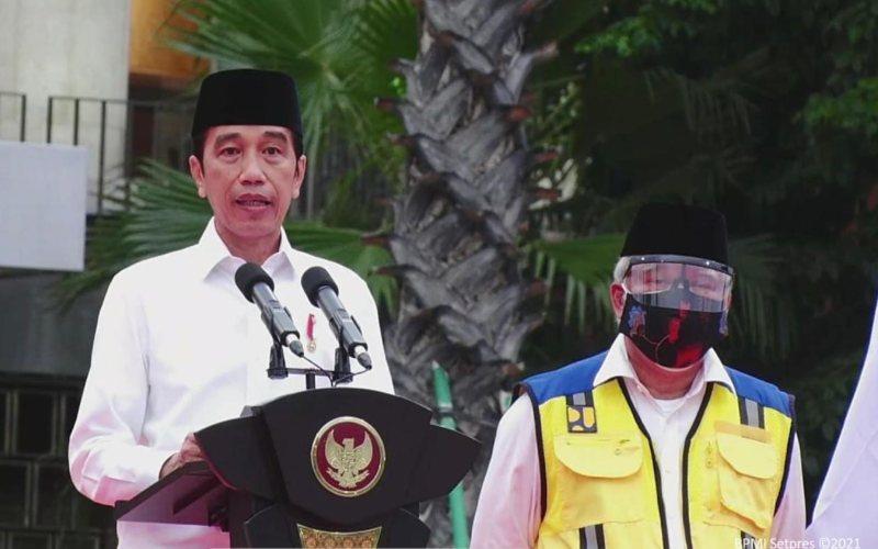 Presiden Joko Widodo menghadiri acara peresmian renovasi masjid Istiqlal, Jakarta pada Kamis, 7 Januari 2021 / Youtube Sekretariat Presiden