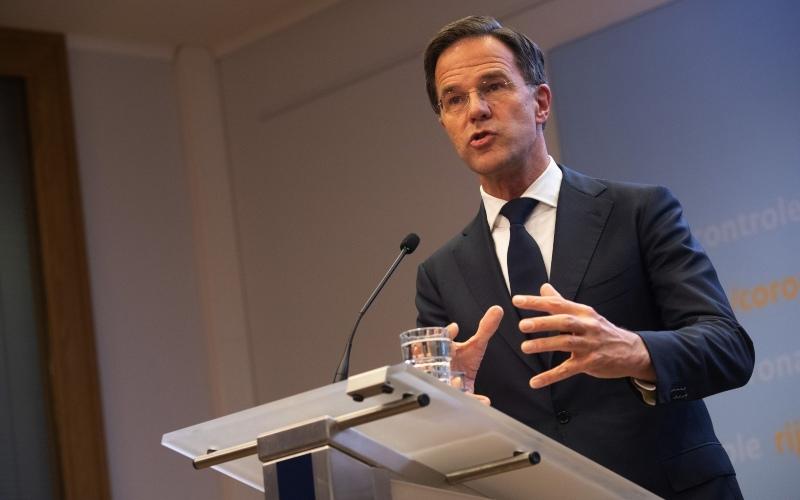 Perdana Menteri (PM) Belanda Mark Rutte dalam konferensi pers di Den Haag, Belanda, Selasa (17/11/2020). - Bloomberg/Peter Boer
