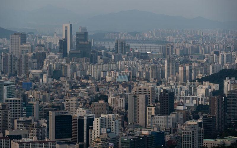 Perkantoran dan properti komersial di Gangnam, Seoul, Korea Selatan./Bloomberg/Bloomberg - Seong Joon Cho