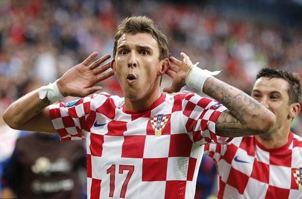 Mario Mandzukic saat membela Timnas Kroasia. - Daily Mail