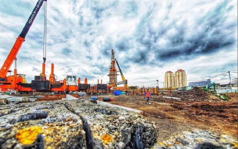 Progres pembangunan Kampung Akuarium di Jakarta Utara. - Twitter@aniesbaswedan