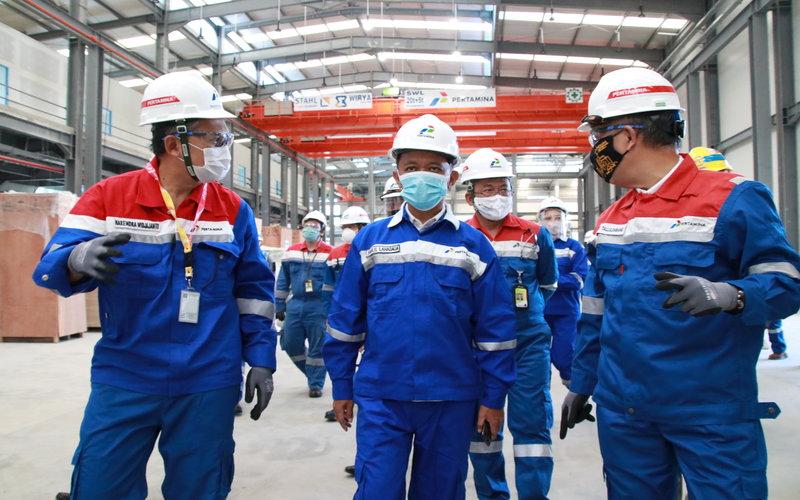 epala Badan Koordinasi Penanaman Modal (BKPM) Bahlil Lahadalia melakukan peninjauan langsung proyek Refinery Development Master Plan (RDMP) Refinery Unit V Balikpapan & Lawe-Lawe di Kota Balikpapan, Kalimantan Timur pada Jumat siang (28/8/2020) -  Pertamina.