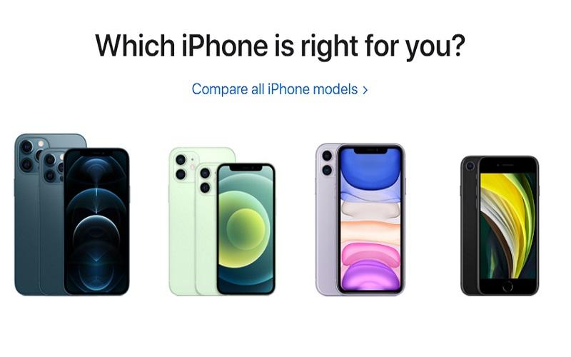 Varian iPhone 12: iPhone Mini, iPhone 12, iPhone Pro, iPhone Pro Max  -  Sumber: Apple.com