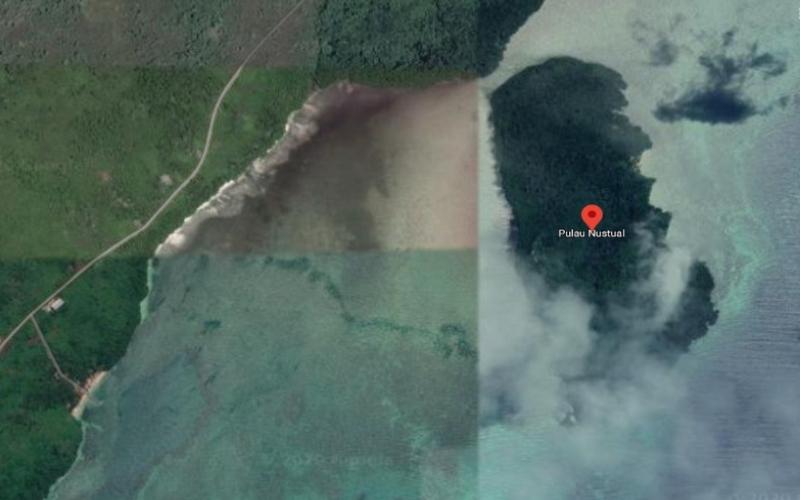 Gambar satelit Pulau Nustual, Maluku -  Istimewa / Google Maps