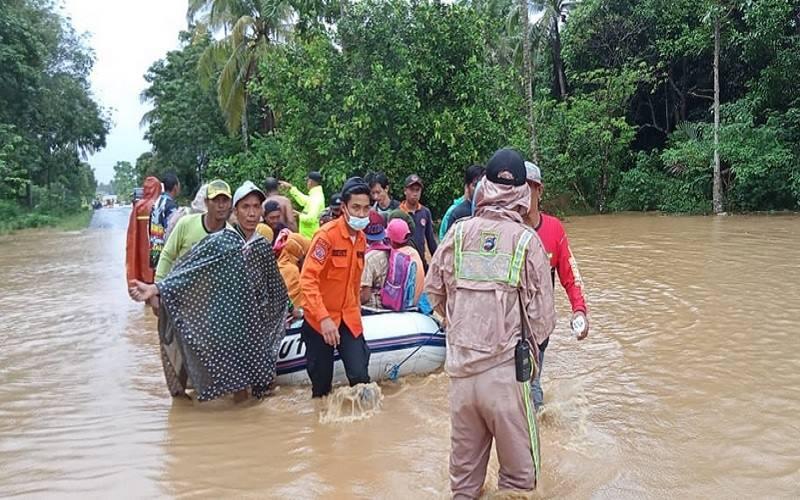 Banjir di Kabupaten Tanah Laut, Kalimantan Selatan. - Dok. BPBD Kabupaten Tanah Laut\r\n
