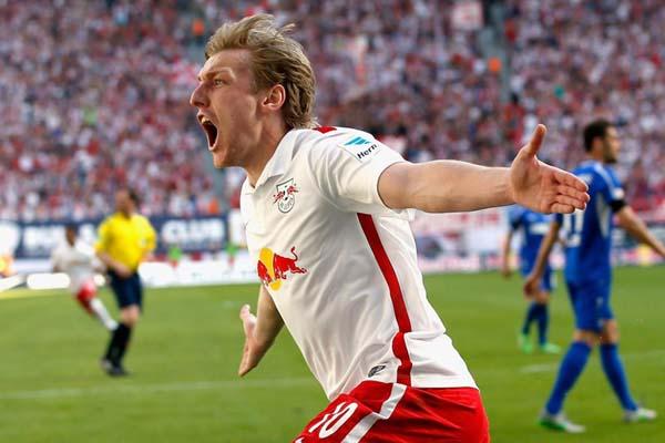 Penyerang RB Leipzig Emil Forsberg - RedBull.com