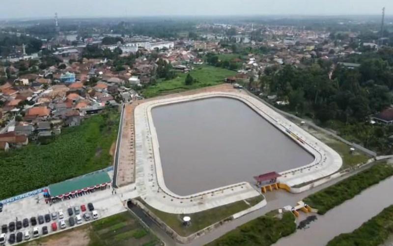 Embung konservasi untuk cegah banjir dan kekeringan di Kabupaten Ogan Komering Ilir (OKI), Sumatra Selatan.  - Istimewa