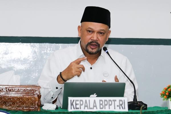Kepala BPPT Hammam Riza. Indonesia memiliki beberapa tantangan untuk mengembangkan kecerdasan buatan.   - BPPT