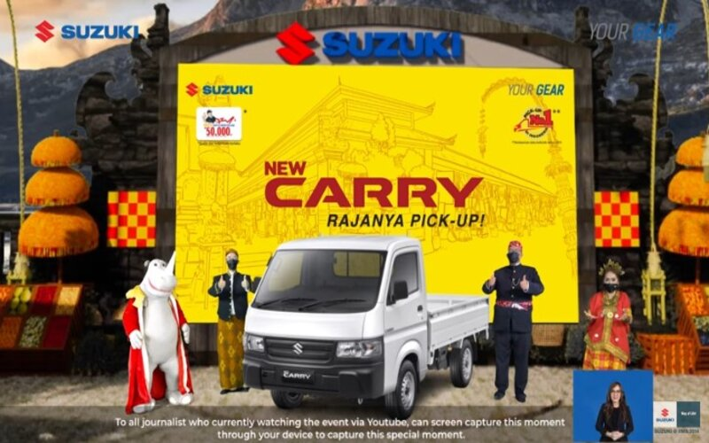 Peluncuran New Carry Pick Up secara virtual, Kamis (21/1 - 2021).