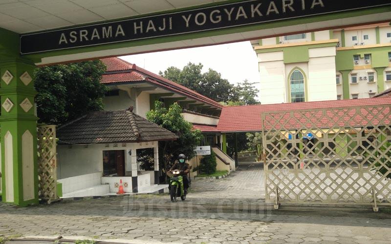 Lokasi shelter khusus ODP/PDP sembuh yang ditolak kembali ke rumah disiapkan oleh Pemkab Sleman di Asrama Haji Jogja. - Harian Jogja - Abdul Hamid Razak