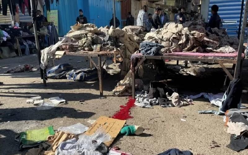 Suasana lokasi bom bunuh diri di Baghdad, Irak, Kamis (21/2/2021).  - Antara/Reuters\r\n