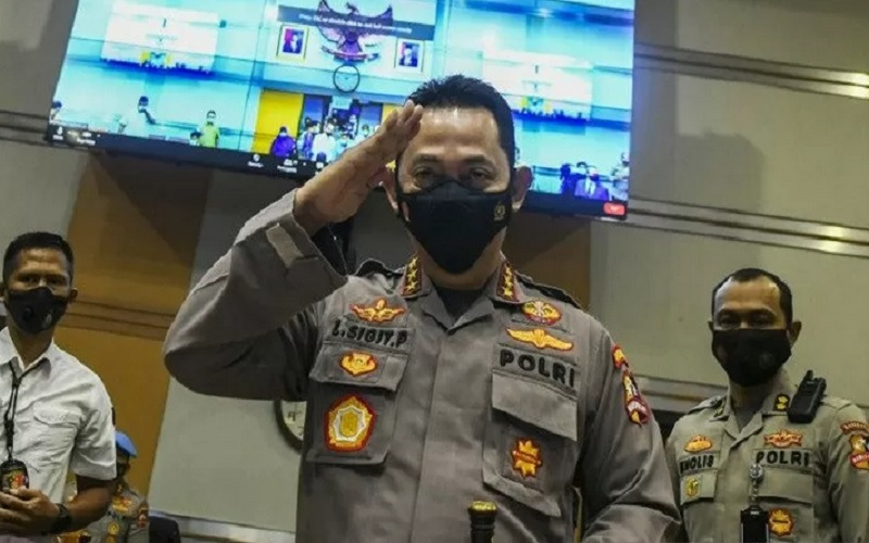 Kabareskrim Polri bersiap mengikuti Uji Kelayakan dan Kepatutan Calon Kapolri di ruang Komisi III DPR, Kompleks Parlemen, Jakarta, Rabu (20/1 - 2021).