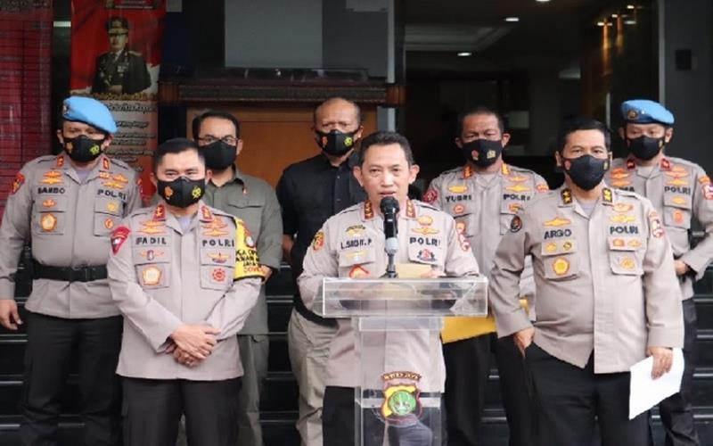 Kabareskrim Polri, Komjen Pol Listyo Sigit Prabowo saat memberikan keterangan pers. - PMJ News