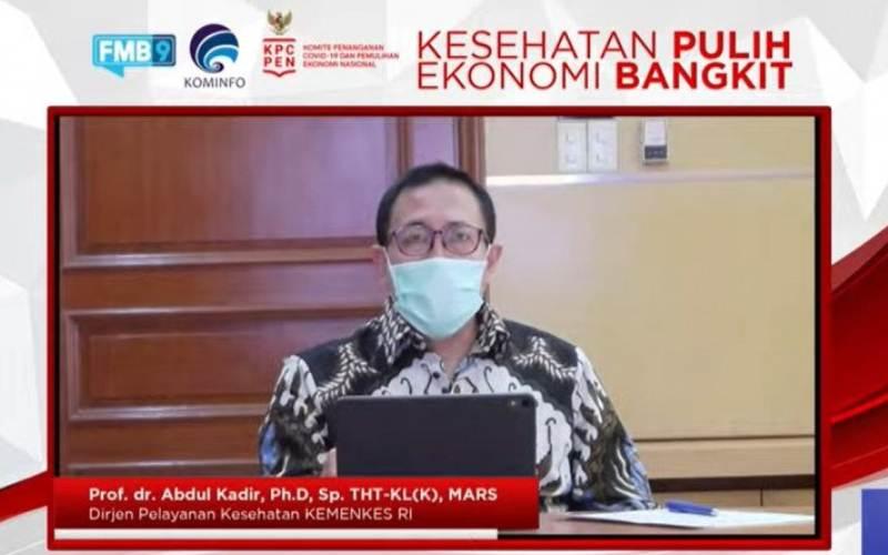 Direktur Jenderal Pelayanan Kesehatan Kementerian Kesehatan Abdul Kadir. (tangkapan layar)