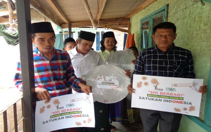 Bantuan pada korban banjir Banten