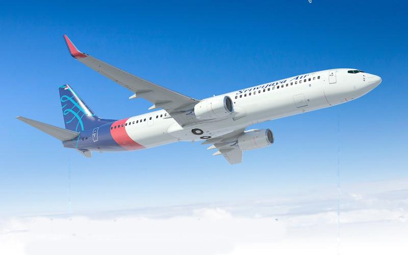 Pesawat Sriwijaya Air.  - Sriwijaya Air.