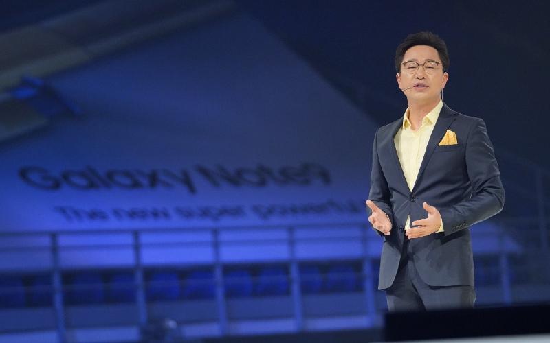 Yonsoo Kim saat peluncuran Samsung Galaxy Note 9 di Malaysia. Kim pernah menjadi bos Samsung Malaysia selama tiga tahun sebelum ditunjuk menjadi bos Samsung Indonesia. - Samsung