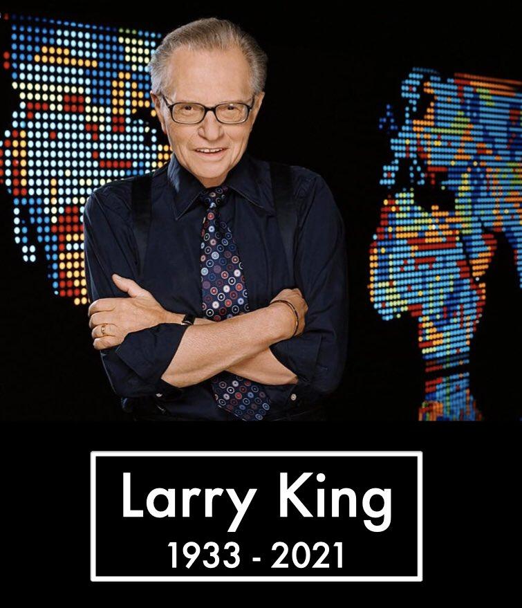 Larry King, legenda penyiaran Amerika Serikat. King meninggal di usia 87 pada Sabtu pagi (23/1/2021). - Twitter.