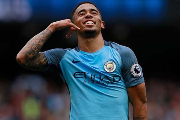 Penyerang Manchester City Gabriel Jesus - Reuters