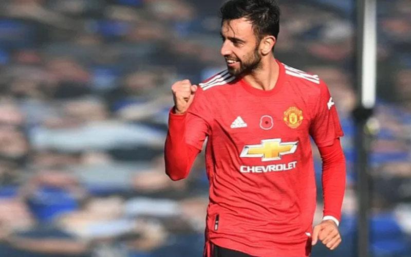 Gelandang serang Manchester United Bruno Fernandes./Antara - Reuters