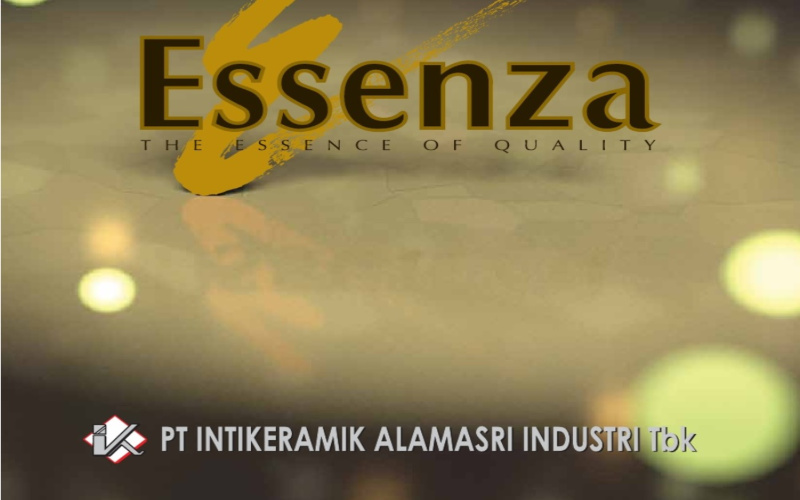 Ilustrasi produk keramik Essenza dari PT Intikeramik Alamsari Industri Tbk.