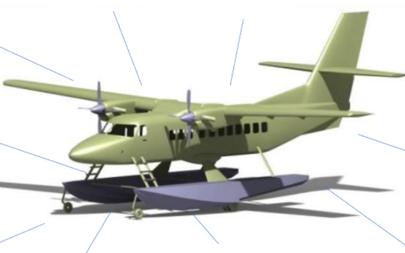 Pesawat N219 Amphibi ditarget uji terbang sebelum 2023. Kehadiran pesawat ini akan membuktikan kemampuan Indonesia dalam membuat pesawat amphibi.  - BPPT