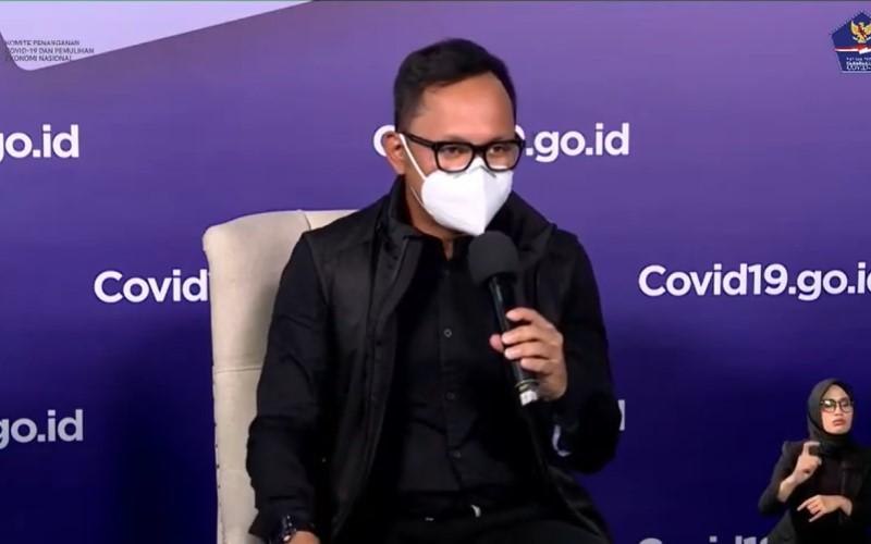 Wali Kota Bogor Bima Arya dalam dalam talkshow Kesiapan Rumah Sakit Darurat Daerah yang diselenggarakan oleh BNPB secara virtual, Senin (25/1/2021). - YouTube BNPB