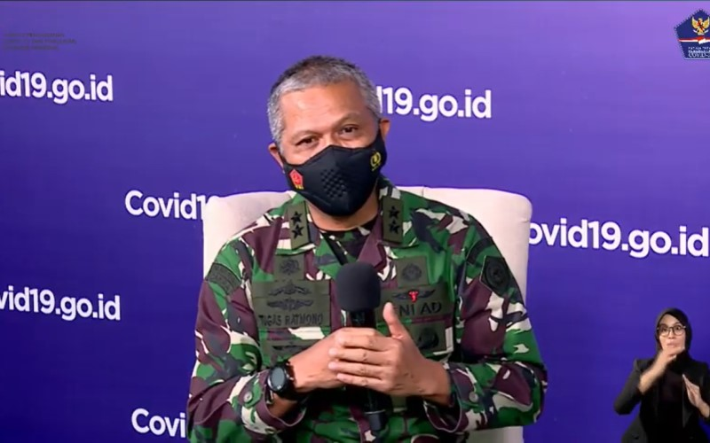 Koordinator RS Darurat Covid-19 Wisma Atlet Mayjen TNI Dr. dr. Tugas Ratmono dalam talkshow Update RS Darurat Wisma Atlet: Kesiapan Rumah Sakit Darurat Daerah yang diselenggarakan oleh BNPB, Senin (25/1/2021) - YouTube BNPB\r\n