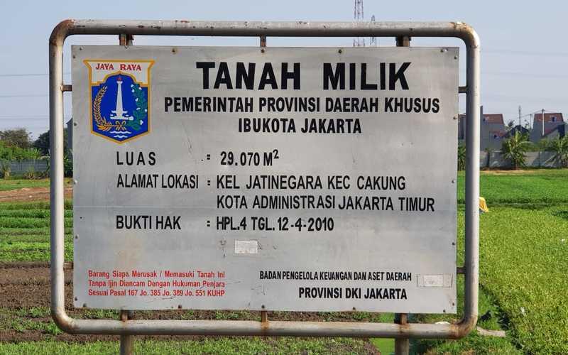 Rencana lokasi pembangunan Kampung Susun untuk Warga Bukit Duri di atas lahan Pemerintah Provinsi DKI Jakarta seluas 29.070 Meter Persegi yang terletak Kelurahan Jatinegara, Cakung, Jakarta Timur. Sandyawan Sumardi