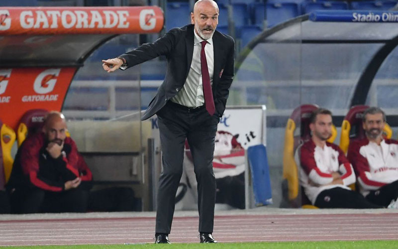 Pelatih AC Milan Stefano Pioli. - Sempre Milan