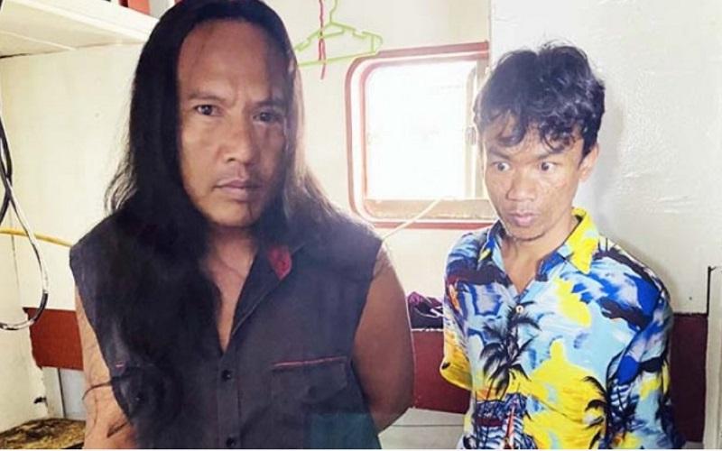 Damayana (kiri) dan Febriyanto, anak buah kapal ikan asal Indonesia yang ditinggalkan di Pelabuhan Suva, Fiji./https://fijisun.com.fj -