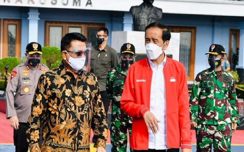 Presiden Joko Widodo pada hari ini, Selasa (26/1/2021), melakukan kunjungan kerja ke Kota Palembang, Provinsi Sumatera Selatan (Sumsel). Presiden bertolak dari Bandara Halim Perdanakusuma. - Laily Rachev/ Biro Pers Sekretariat Presiden