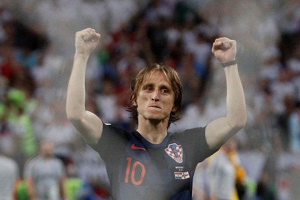 Luka Modric sebagai kapten Timnas Kroasia /Reuters - Darren Staples
