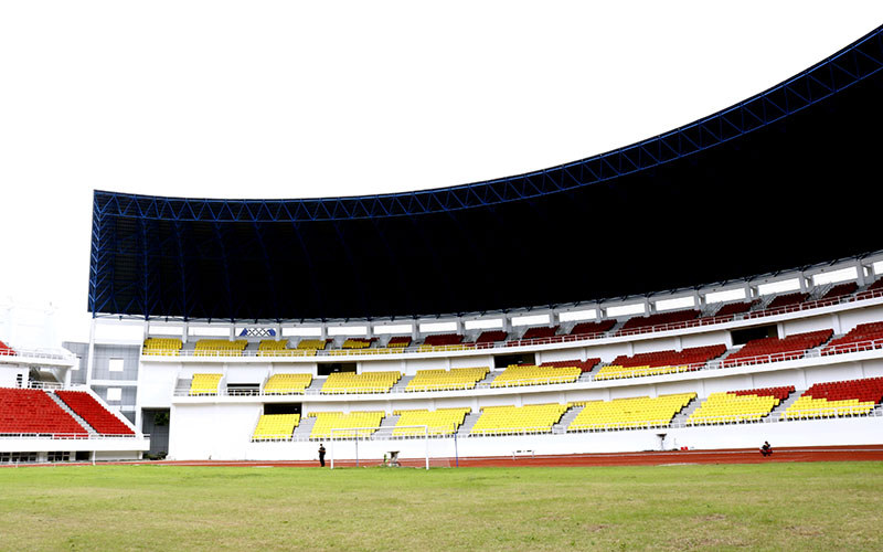 Bagian dalam Stadion Jatidiri  -  Muhammad Faisal Nur Ikhsan / BISNIS.COM
