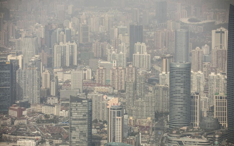 Wajah properti Shanghai, China./Bloomberg - Qilai Shen