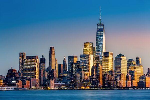 Lanskap kota New York, AS - istimewa