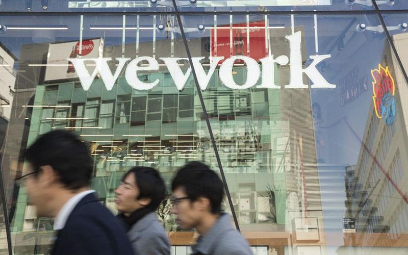WeWork, penyedia ruang kerja bersama./Bloomberg - Keith Bedford