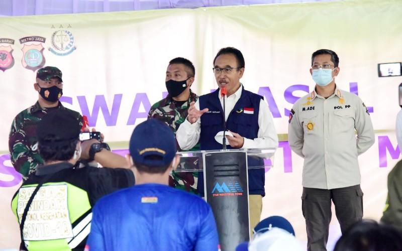 Ketua Harian Satuan Tugas (Satgas) Penanganan Covid/19 Jabar Daud Achmad