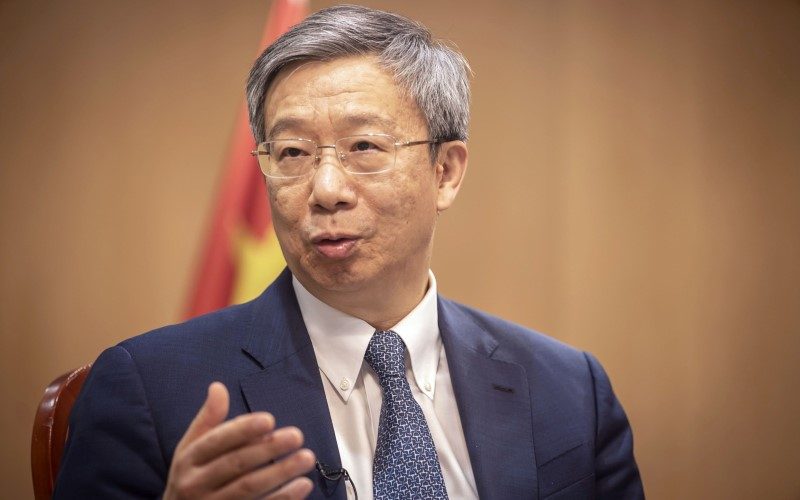 Gubernur People's Bank of China, Yi Gang. - Bloomberg