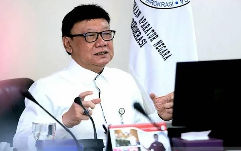 Menteri Pendayagunaan Aparatur Negara dan Reformasi Birokrasi Tjahjo Kumolo. - Antara