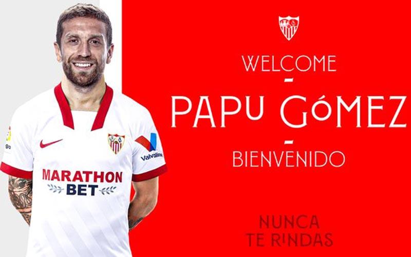 Papu Gomes resmi membela Sevilla. - Twitter@SevillaFC