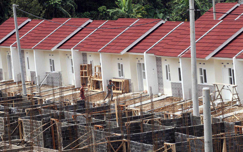Ilustrasi pembangunan perumahan di Bogor, Jawa barat./Antara - Yulius Satria Wijaya